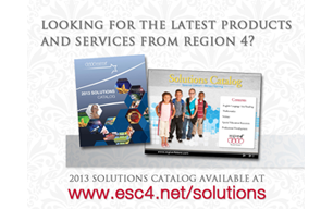 Solutions catalog from Region 4 ESC. Teacher and Administrator resources for Texas educators.