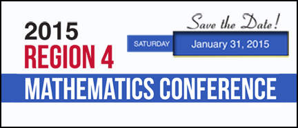 Region 4 Mathematics Conference Banner