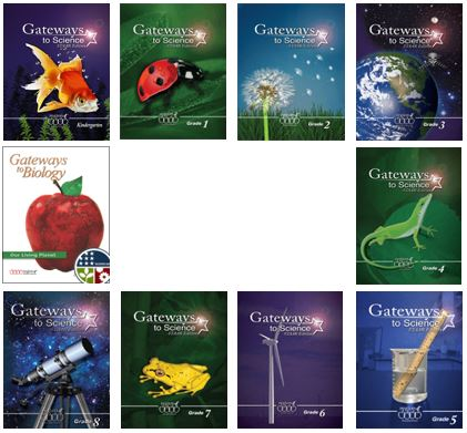 Covers of Gateways to Science books