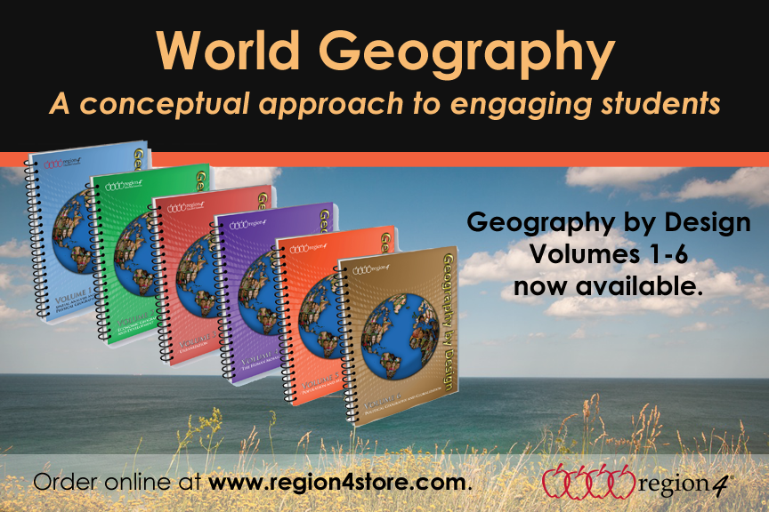 Geography by Design Volumes 1-6 now available.